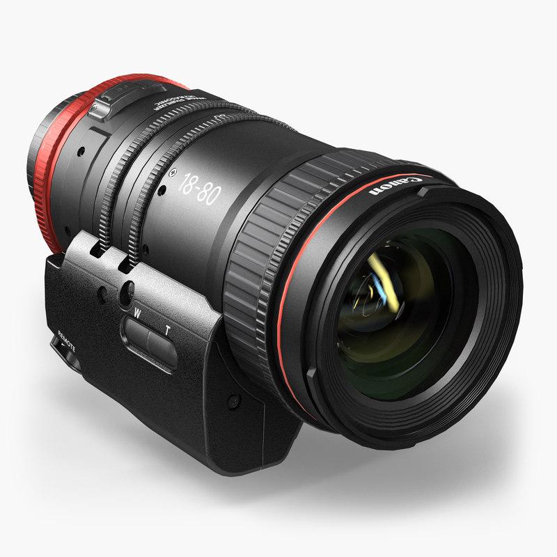 3D model canon compact-servo cn-e 18-80mm