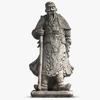 sculpture thai guardian 3D model