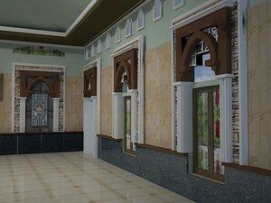 3D model interior mosque