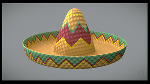 3D sombrero hat