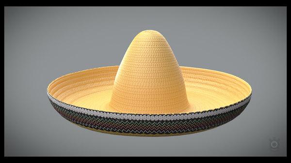 sombrero hat 3D model