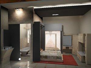 3D furniture room