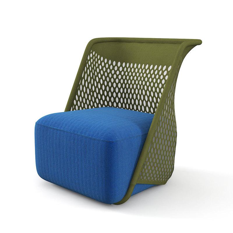 moroso cradle chair mesh 3D model