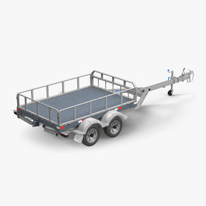 double axle trailer 3D