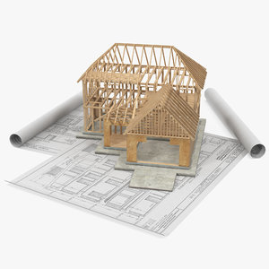 house construction blueprints model