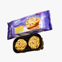 4k milka cookie 3D model