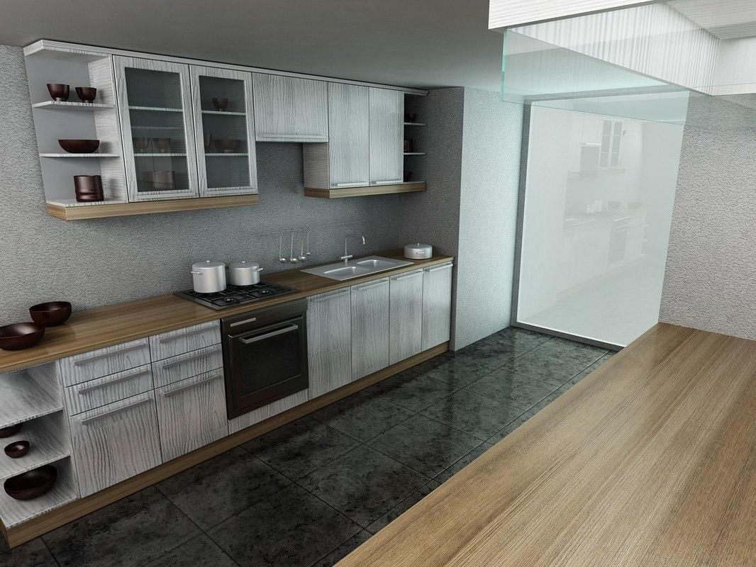3D kitchen interior designed