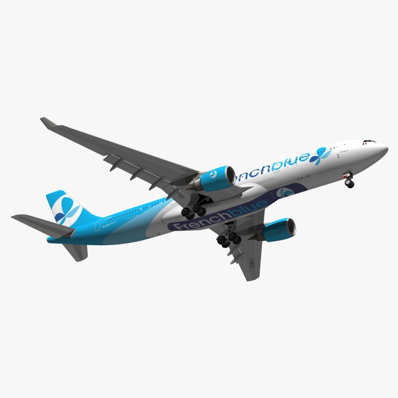 3D airbus french blue a330