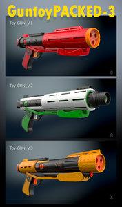 3D toy gun packed 3