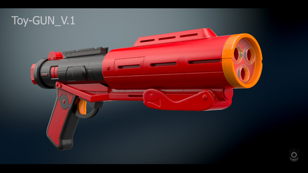 3D toy gun 1 model