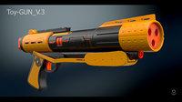 toy gun 3 3D model