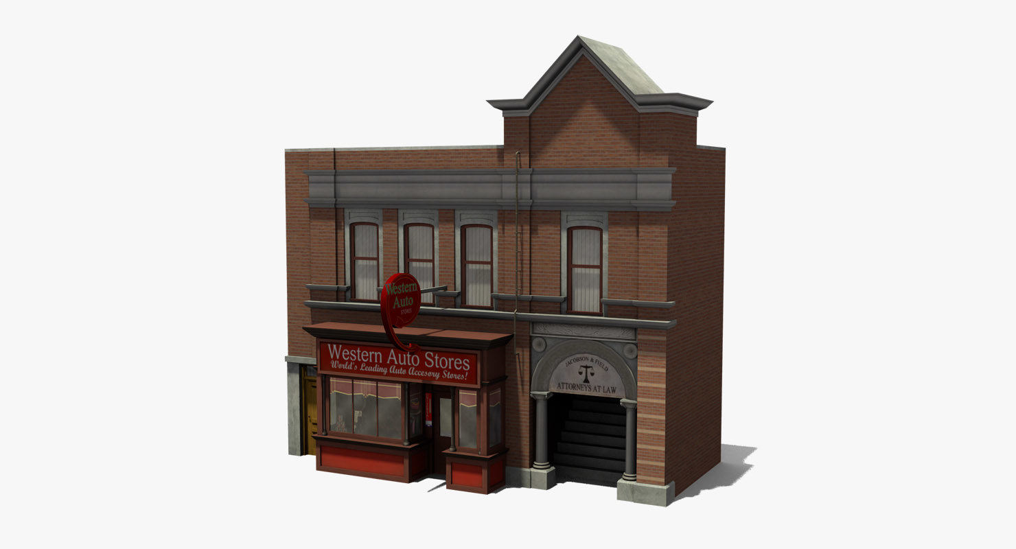3D western auto stores
