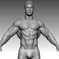 fitness bodybuilder super hero model