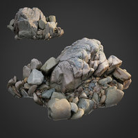 3D scanned nature stone 035