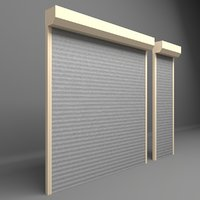 Garage door electric roller shutters