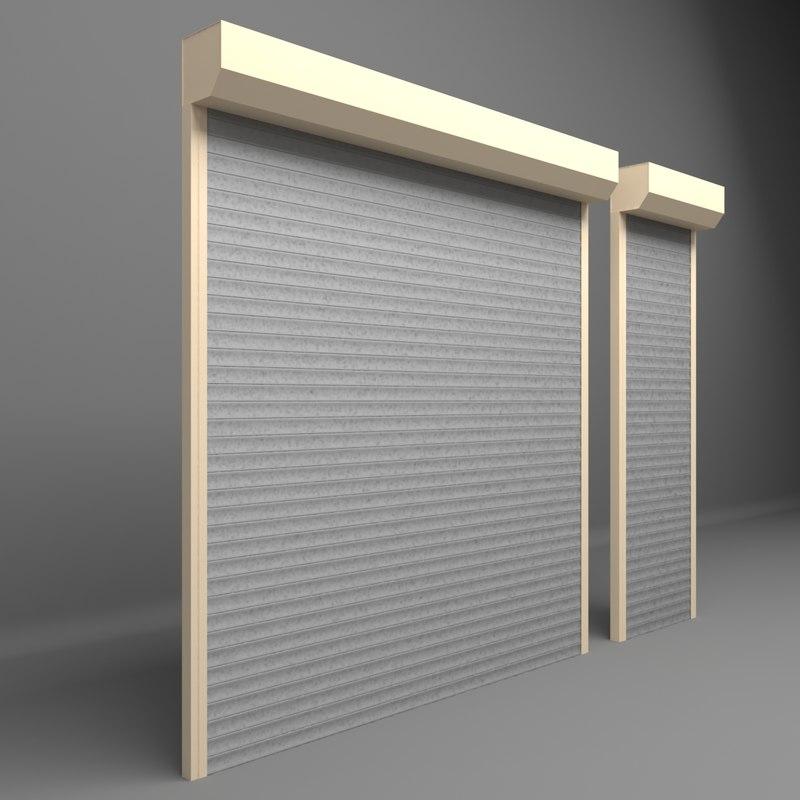 3D garage door roller