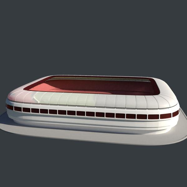 soccer stadium model