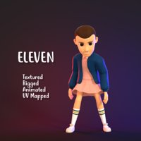 3D Character Girl - Eleven (Stranger Things)