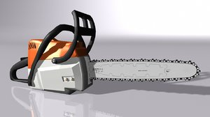 3D model saw chain chainsaw