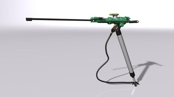 pneumatic drill mining 3D