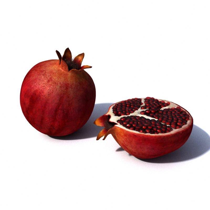3D pomegranate model