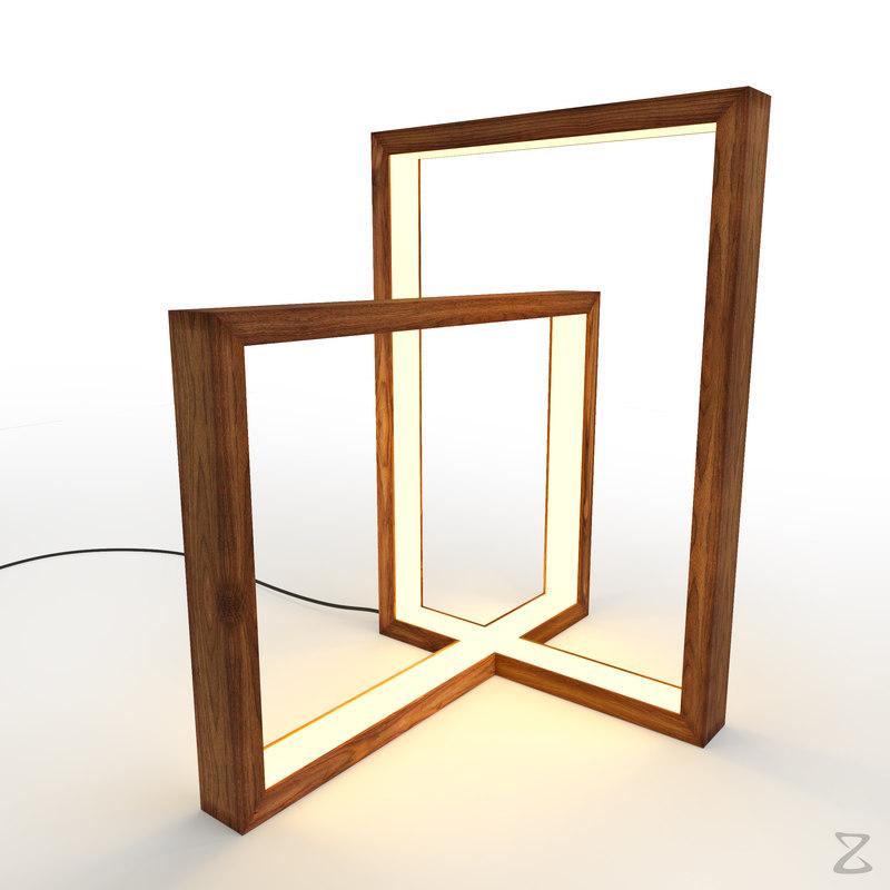 3D model light table lamp 4