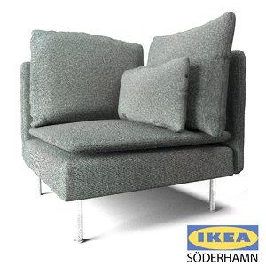 3D ikea corner sofa model