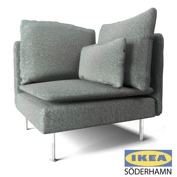 Ikea Corner Sofa Model Turbosquid