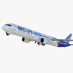 3D irkut airliner mc-21 400