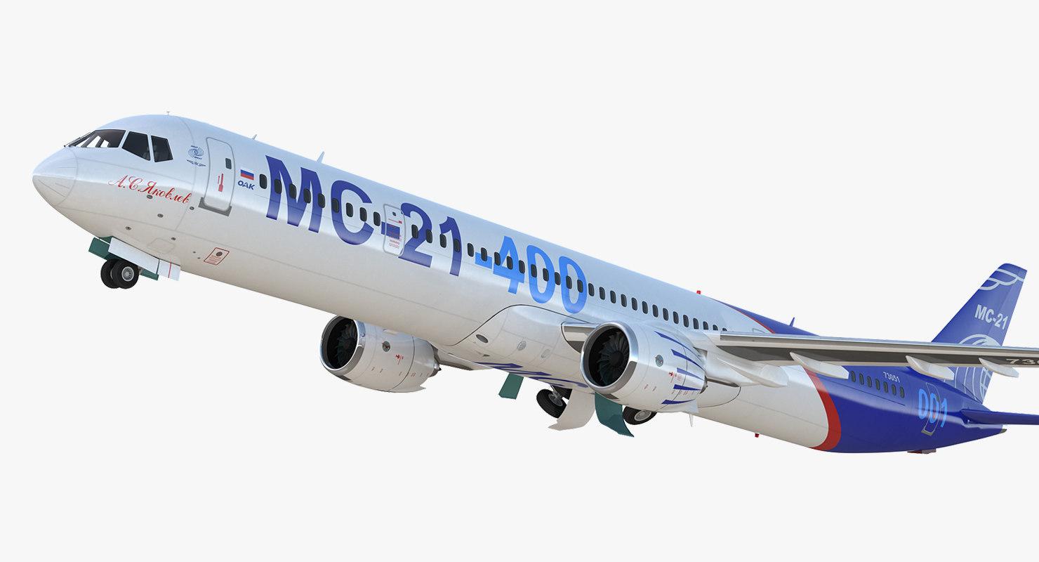 3D irkut airliner mc-21 400