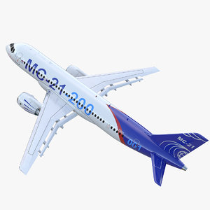 twinjet airliner mc-21 200 3D model