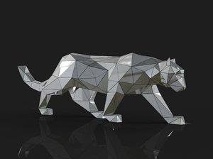 3D model geometric leopard
