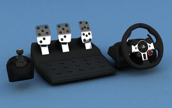 g29 controller steering 3D model