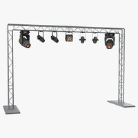 Mobile Truss System with Lights 3D Model