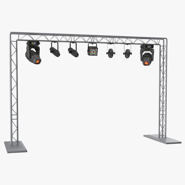 mobile truss lights 3D