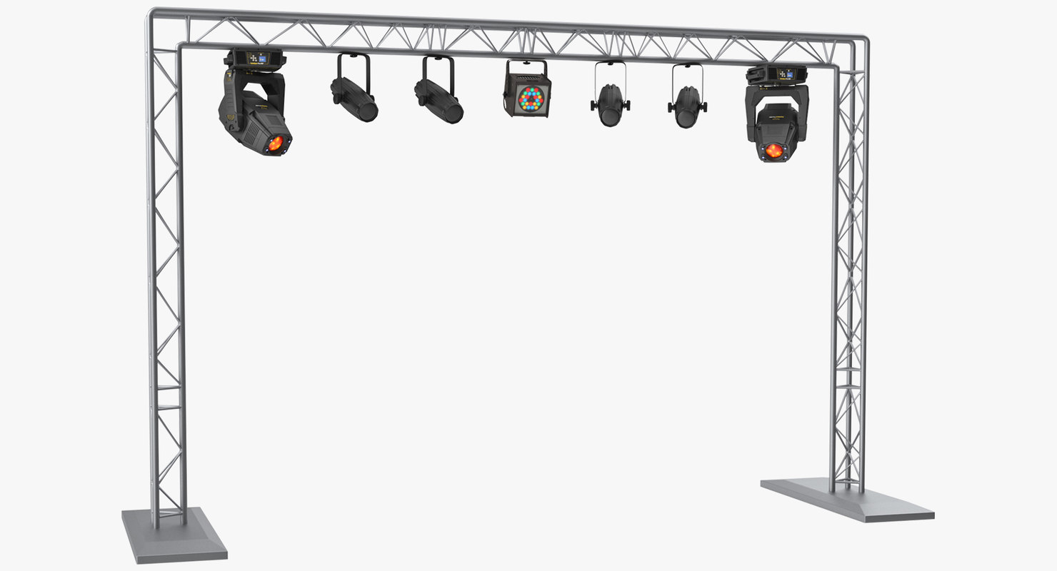 mobile truss lights 3D