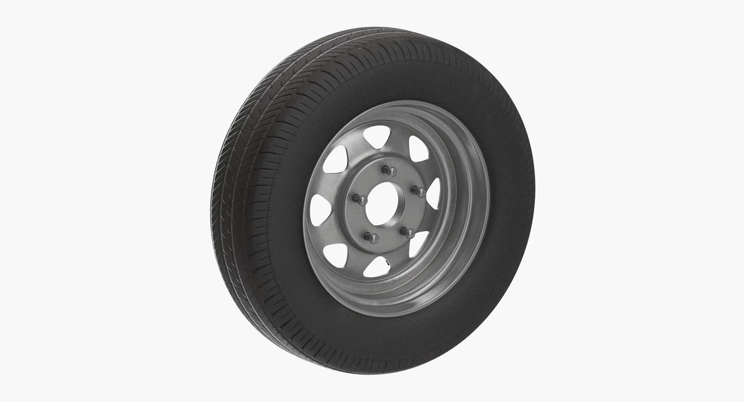 3D spare car wheel model