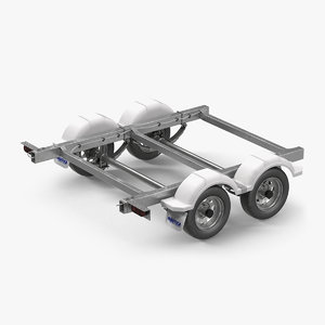 3D trailer chassis model