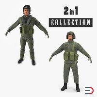 military pilots 3D model