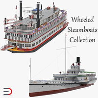 3D wheeled steamboats