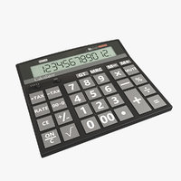 electric calculator 3D model