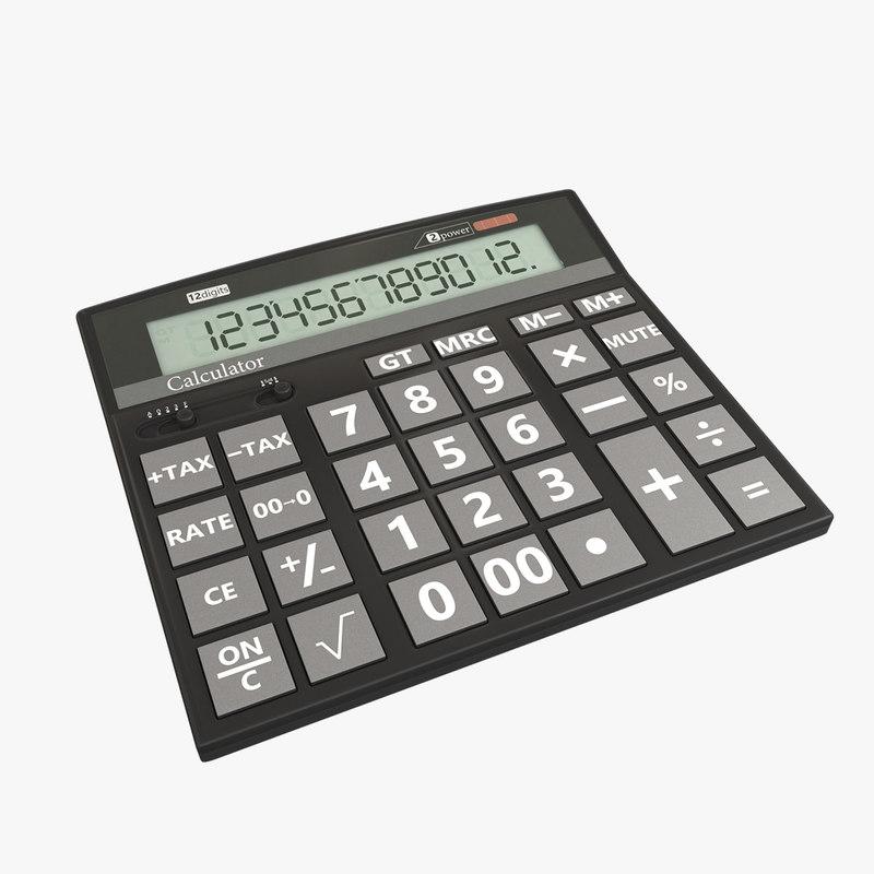 electric calculator 3D model