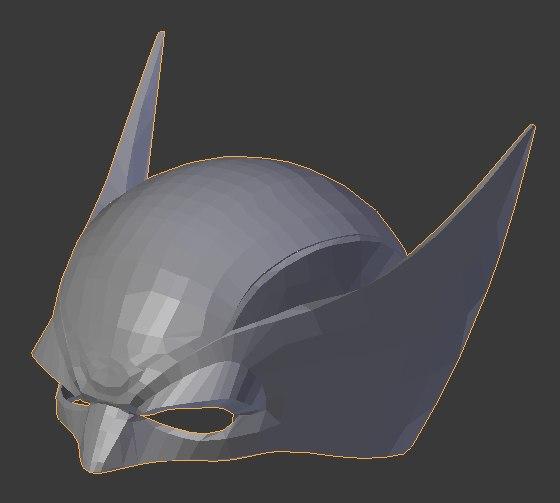 3D model wolverine helmet
