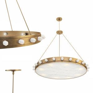 3D halcyon large chandelier