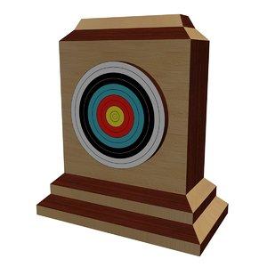 3D archery target model