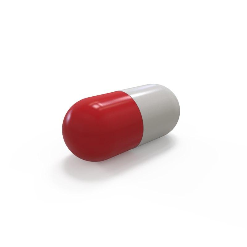 3D pill capsule model