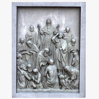 bas relief monarch christianity 3D model