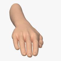 3D model female arm pose c