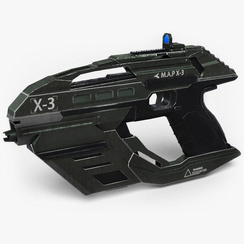 x3 sci fi 3D model