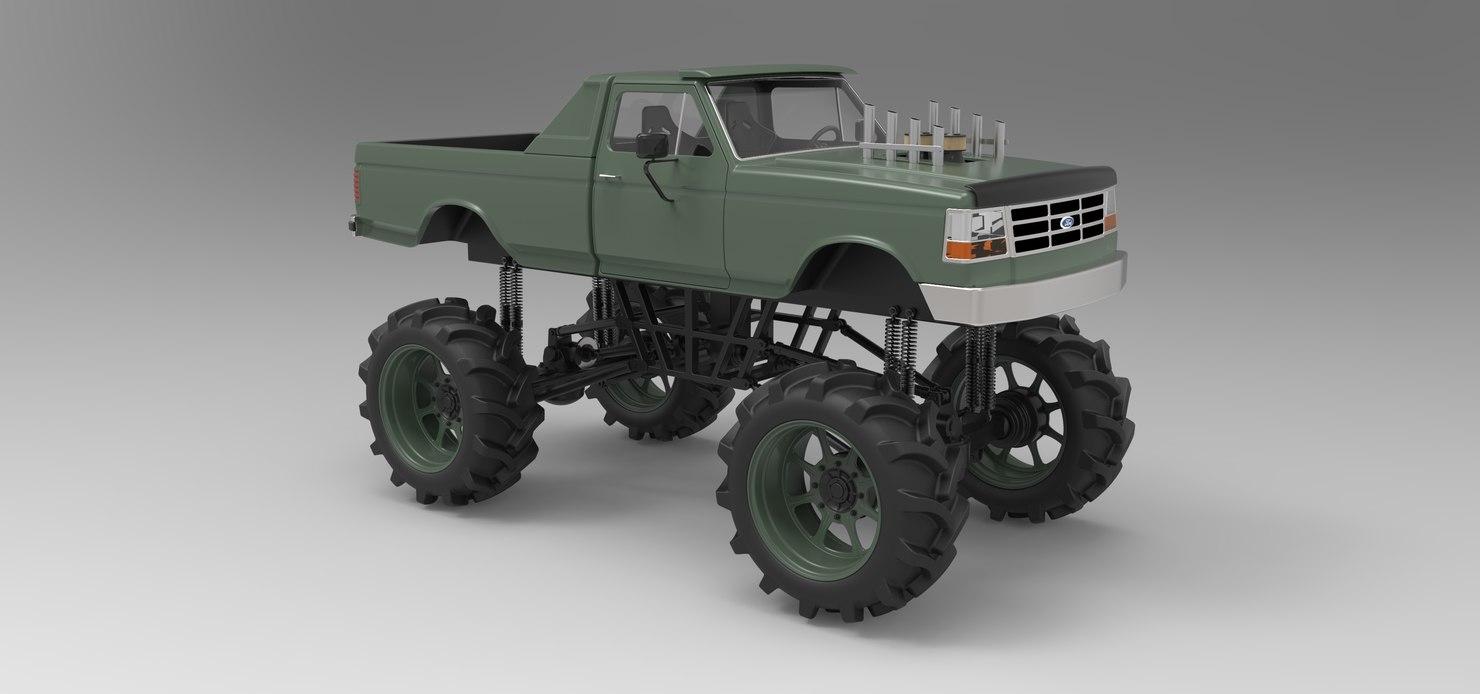 mud truck 3D
